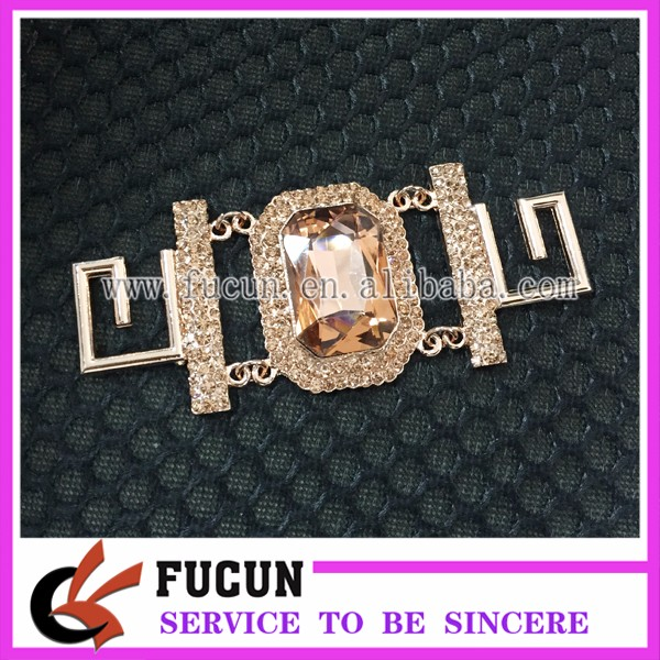 Best Sale!!! High Quality Gorgeous Bikini Clasp Buckle Rose Gold Jewelry Connector for Competition Bikini Suit