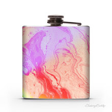 China professional supplier wedding Bridesmaid Gift stainless steel wholesale nice looking colorful painting Hip Flask