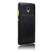Factory new design card slot wallet leather phone case for lenovo vibe p1