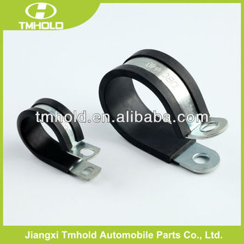 Stainless steel fixing rubber hose clamps with rubber coated to fixed