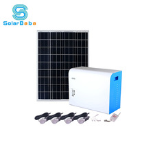 High Power Rechargeable 300W Off-grid Solar Power System Solar Home Lighting Kit