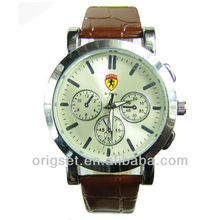 new leather strap watch alloy watch customized logo