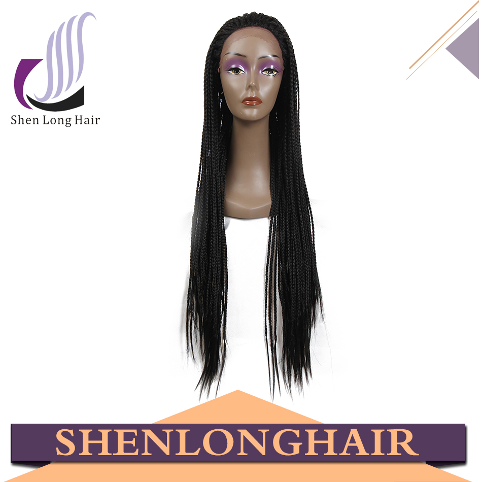 Elegant wig braided lace front wig,Top quality synthetic Micro braided lace front wigs, braided wigs for black