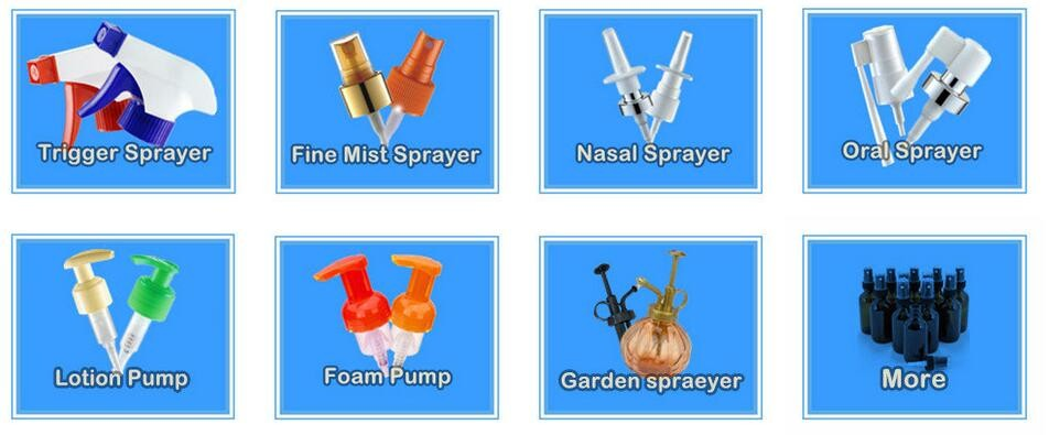 New Design Plastic PP or ABS Plant Garden for Glass PE Bottle Water Spray Mister 33mm