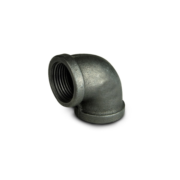 Black malleable iron pipe <strong>fitting</strong> for gas pipeline materials 90 elbow