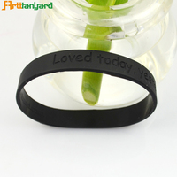 Cheap Unisex Custom Boys Black Bangles