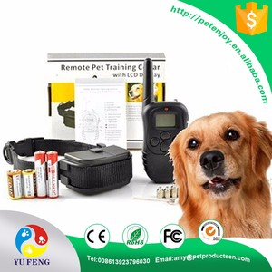 high efficiency CE / R&TT / FCC black Stocked static shock training dog collars small dogs