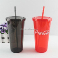 Double Wall Tumbler Cups Cold Drink Water with Lid Straw