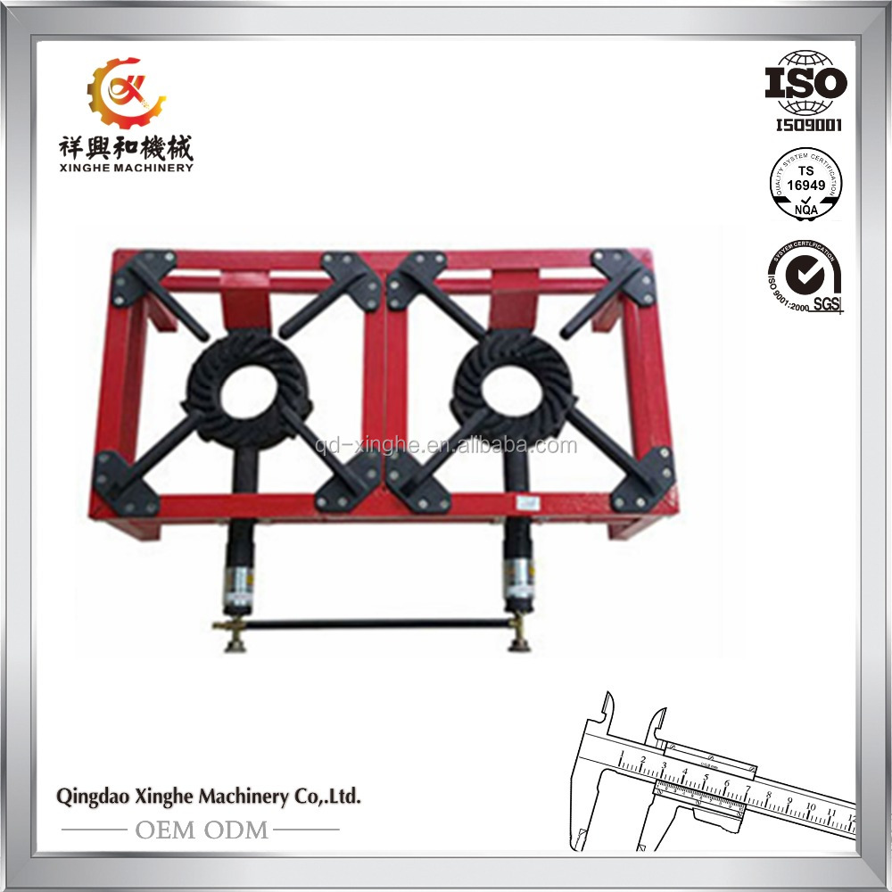 Professional supplier portable cast iron cooking burner gas stove gas burner with powder coated