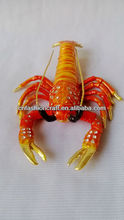 2013 Golden Plated Hand made bejewelled lobster trinket box