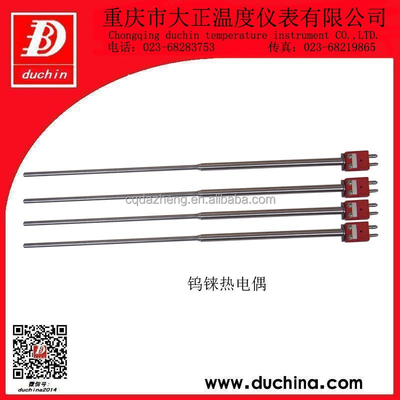 C type Tungsten-rhenium thermocouple with Mo protection tube