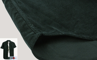 breathing dark green cotton corduroy fabric