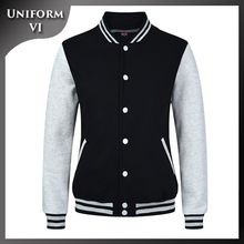 women and men unisex oem custom fleece baseball varsity jacket
