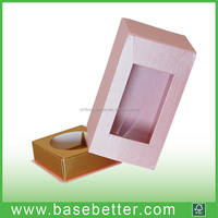 Custom Candle Boxes Packaging Paper Gift Box with Clear PVC Window