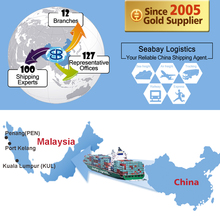 Cheap sea freight ocean shipping container service from china to malaysia port kelang penang