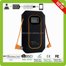 2015 hot sale China supplier solar charger,mobile power bank,portable power bank for laptop with output cable inside