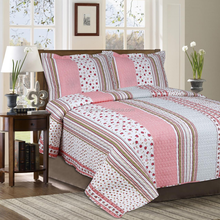 Stripe Printed quilt adult quilt colorful quilt for bedding