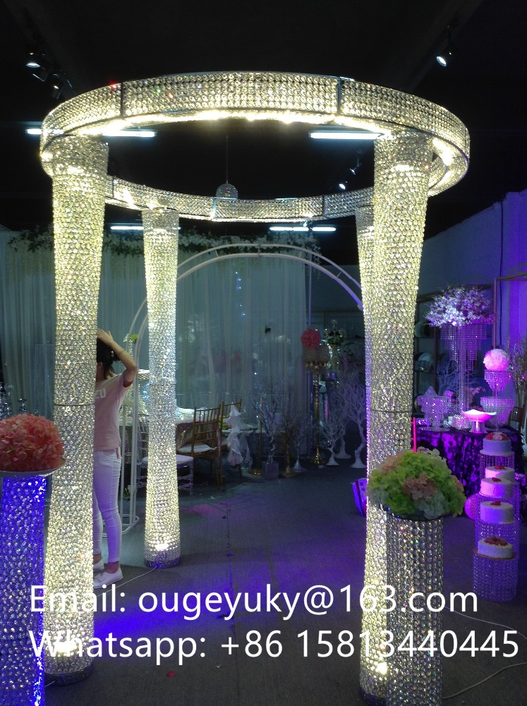 Latest crystal lighting stand tall wedding hall decorations lighting