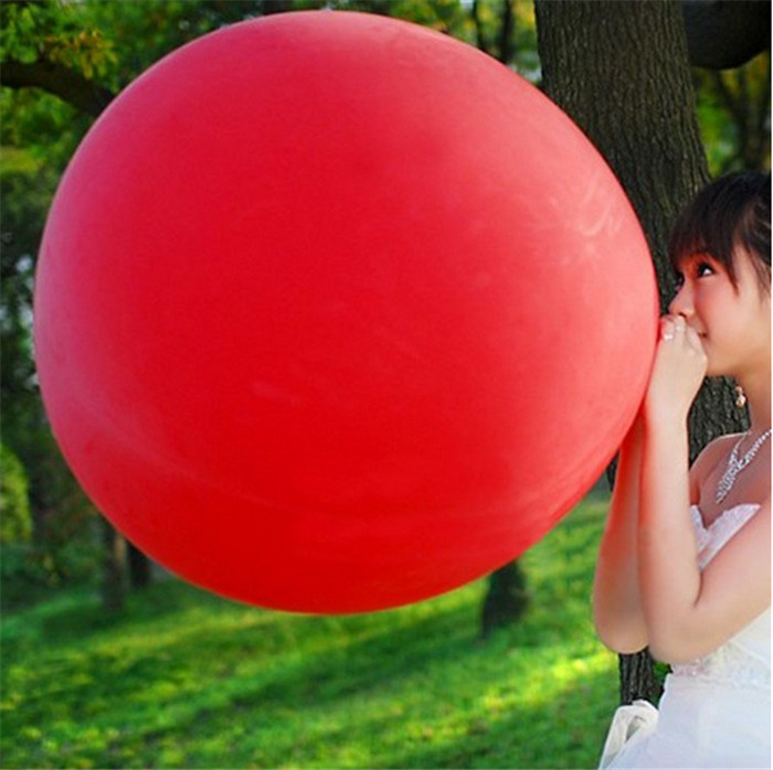 Jumbo Giant Luft Balloon, 3FT 90cm Round Clear Balloon, Huge Transparent Party Birthday Balloon