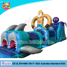 Adult Inflatable Sharks mouths obstacle course for seaworld adventure