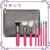 8pcs luxury pink makeup brush set Tightline Liner Precise Lip Line Brush with quality makeup brush case