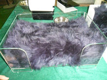 Clear Fashionable Design Acrylic Dog Bed with Smooth Mat