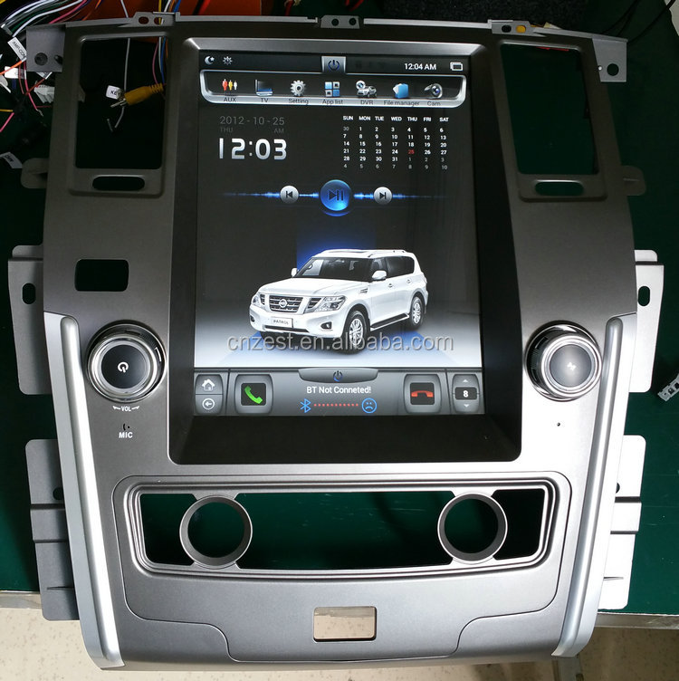 12.1inch Android car radio for Nissan Patrol auto multimedia system with WiFi BT 3G dvd gps player