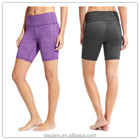 OEM solid color teen girl yoga shorts sports wear