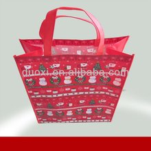 Christmas gift bag non woven folding shopper tote bag 100% manufacturer