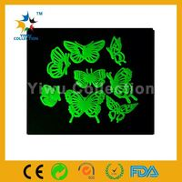 temporary tattoo sticker,adhesive mylar film sheets,a set of glow in the dark with moon shape