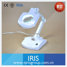 Tianjin Iris Brand Cheap Price and Best Quality Desktop Magnifying Lamp/ Magnifier Desk Lamp for Dental Labs or Jewelry Shops