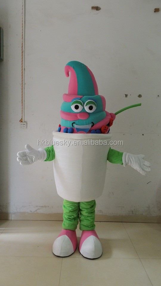 frozen yogurt mascot costume ice cream mascot costume for outdoor advertising