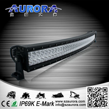 IP68 300W dual row led light bar 50 inch curved led light bar