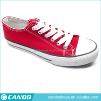 promotional hot selling brand factory mens shoes 2016 classic design red canvas school sneaker