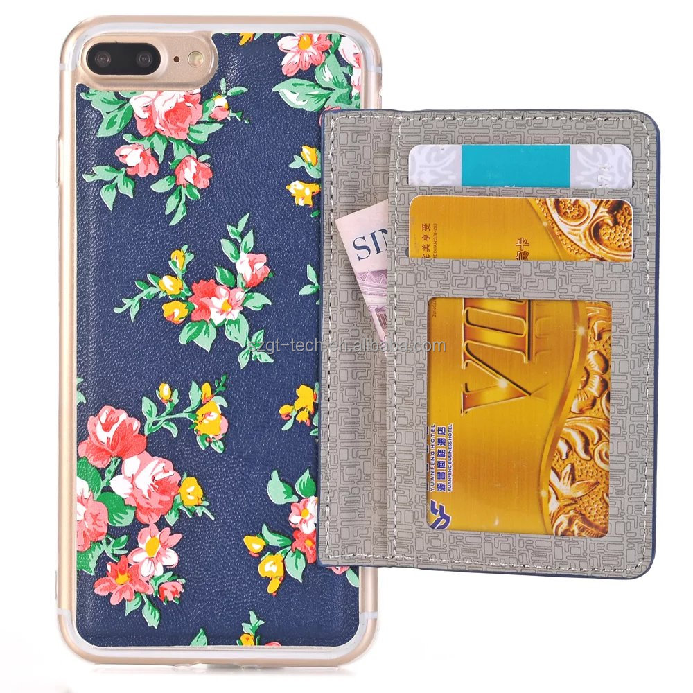 Top Quality Mobile Phone leather Wallet Case with Card Holder Slot for Apple iPhone 7 7plus