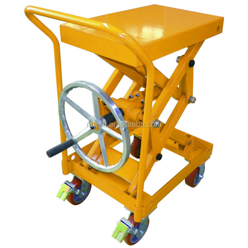 Used Hydraulic Lift Tables : Screw type lift table truck without hydraulic pump view