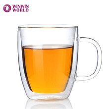 Promotional Gift Wholesale Tableware Drinking Double Wall Glass Coffee Mug For Coffee Tea Espresso