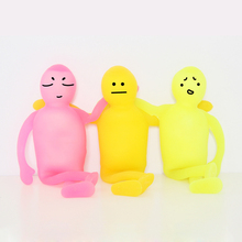 Funny Gag Toys Anti Stress Ball TPR+EVA person green children toy