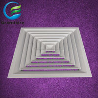 4 Way Supply Air Ceiling Vent