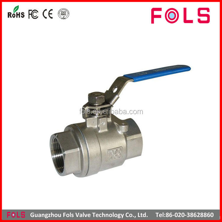 manual full bore threaded ball valve with limit switch