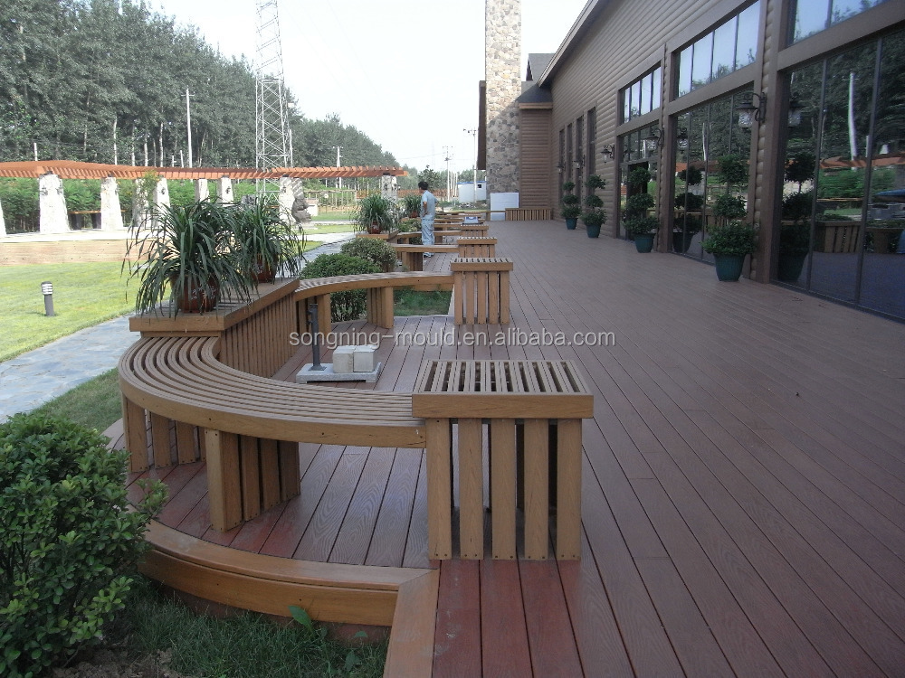 Plastic wood outdoor deck thick type 32mm thickness view for Timber decking thickness