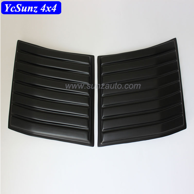 Black Side Bonnet Cover 4x4 pickup Accessories ABS sheet For Ford Ranger Wildtrak 2015 2016 T7