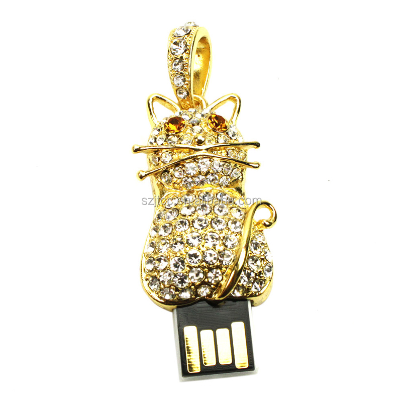 8GB Jewelry USB Flash, Night Owl Shape Pen Drives