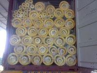 "1"" and 2"" Fiber glass wool pipe with Aluminium foil covering"