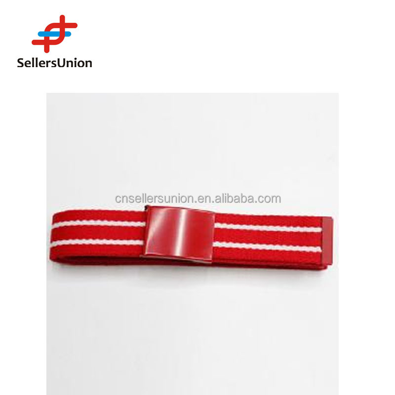 No.1 yiwu commission agent New High Quality Red Stripe Polyester Strap fabric Belt for Women
