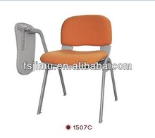 best colored fabric student chair with tablet arm / student study chair
