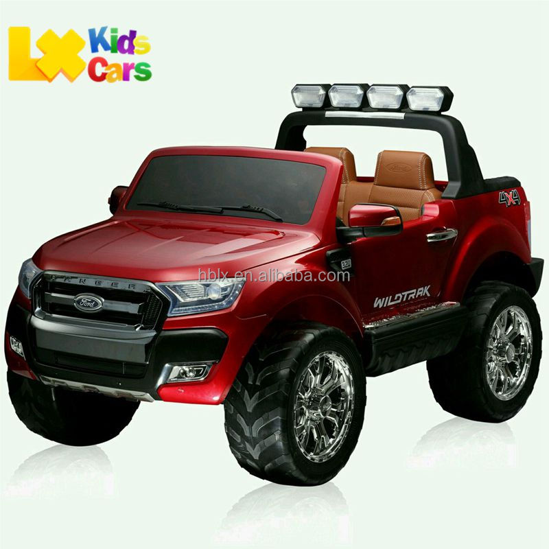 Licensed Newest Ford Ranger F650 pickup two seaters wholesale ride on battery operated remote control kids baby car