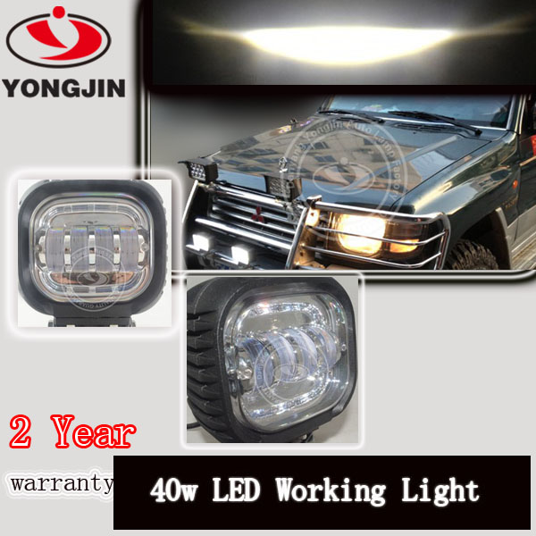 Factory direct provide led light bulbs 40w working lamp for car, boat,vehicle,jeep,truck