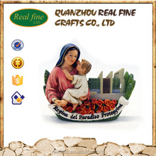 resin 3d mary and baby jesus catholic religious souvenir statue