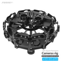 NEW 2016 Gopro Accessories 360 Degree Mount 12 gopro Cameras Aluminum Panorama Frame Shooting Bracket for GoPro Hero 3 3+ 4